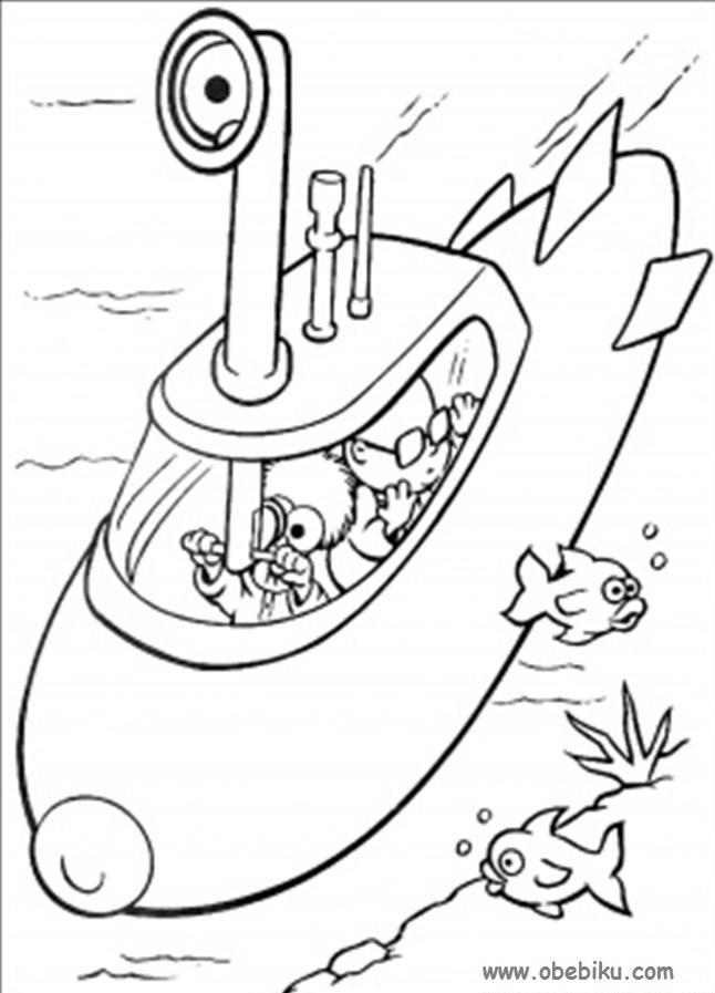 Gambar Kapal Selam Untuk Mewarnai Brad Erva Doce Info