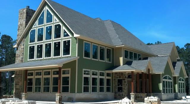 Custom Designed banks of Open-pane windows