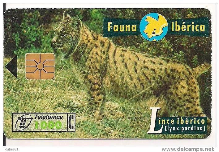 Tarjeta telefónica Lince ibérico (Lynx pardina)