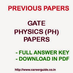 GATE Physics Papers   Download GATE Previous Year Solved