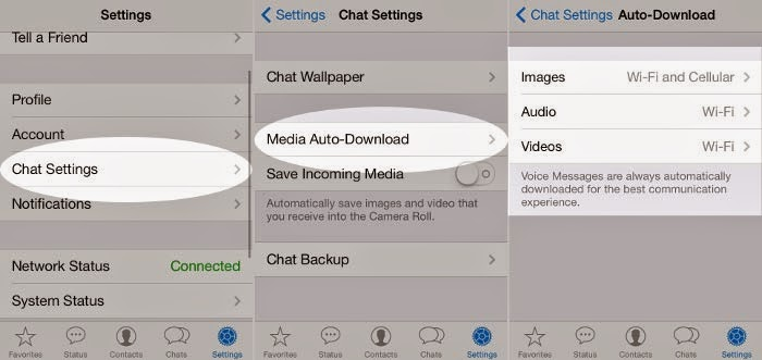 Disable whatsapp auto download iphone