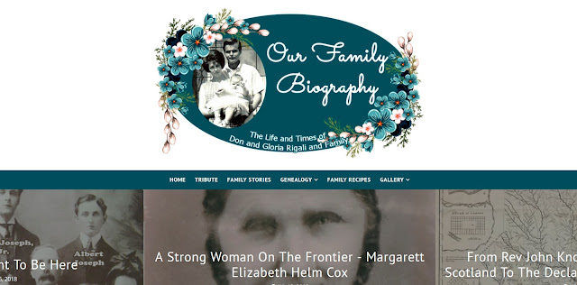 A Family Heritage Site portfolio example: Our Family Biography