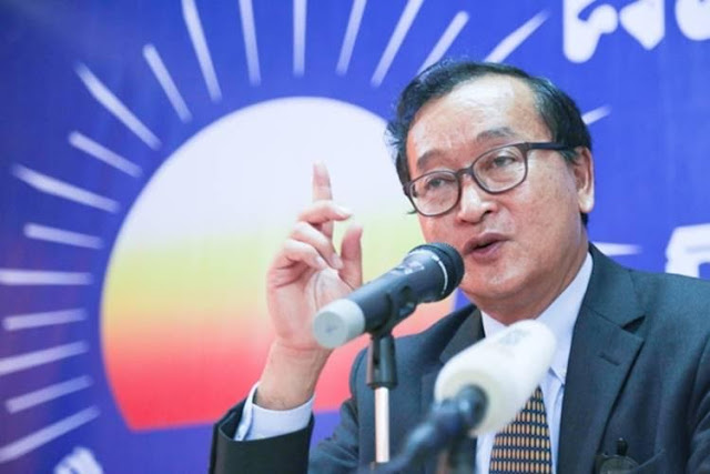 Opposition leader Sam Rainsy says the ruling party now has too much control over the election committee. Supplied