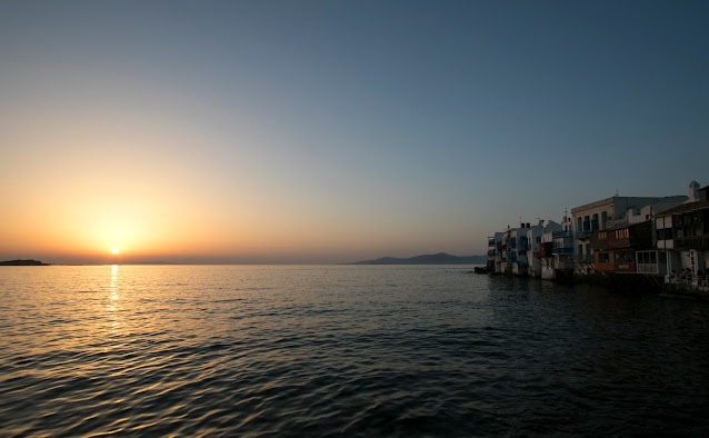 Tramonto a Little Venice-Mykonos town-Mykonos