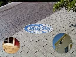 Hot Water Soft Wash Roof in Tyngsborough, Massachusetts