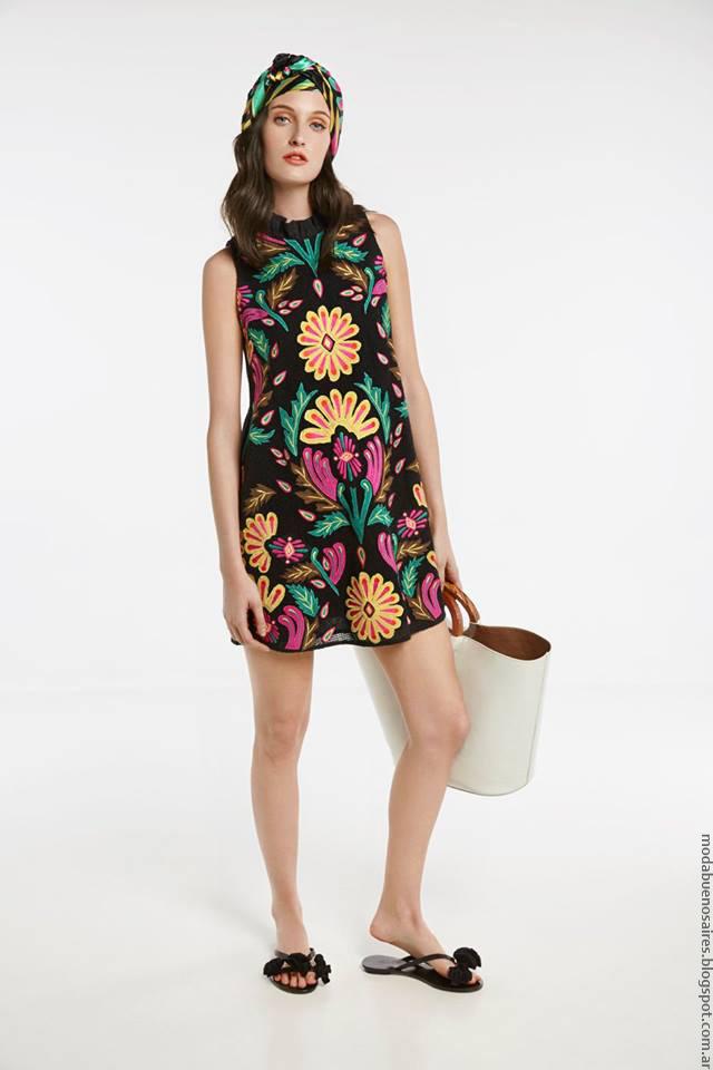 Maria Cher primavera verano 2017 vestidos.