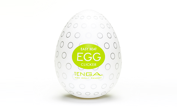 Masturbator z silikonu Tenga Egg Clicker [test - recenzja - opinia]