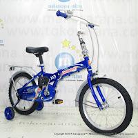 Sepeda Lipat Anak Evergreen EG116 Magnificent 16 Inci Blue