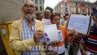 Pensionados y jubilados de la administración pública protestaron exigiendo el pago del bono de alimentación