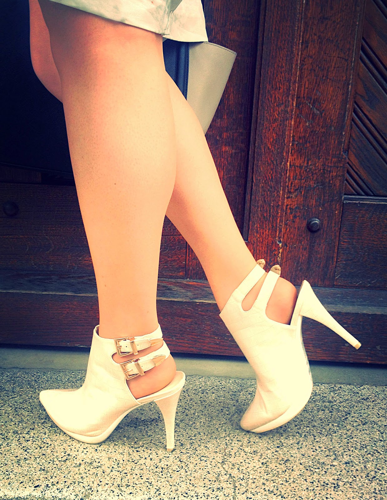 sling back strappy nude heels