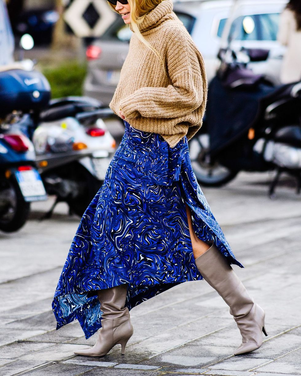 Liven Up Your Winter Wardrobe With a Printed Skirt