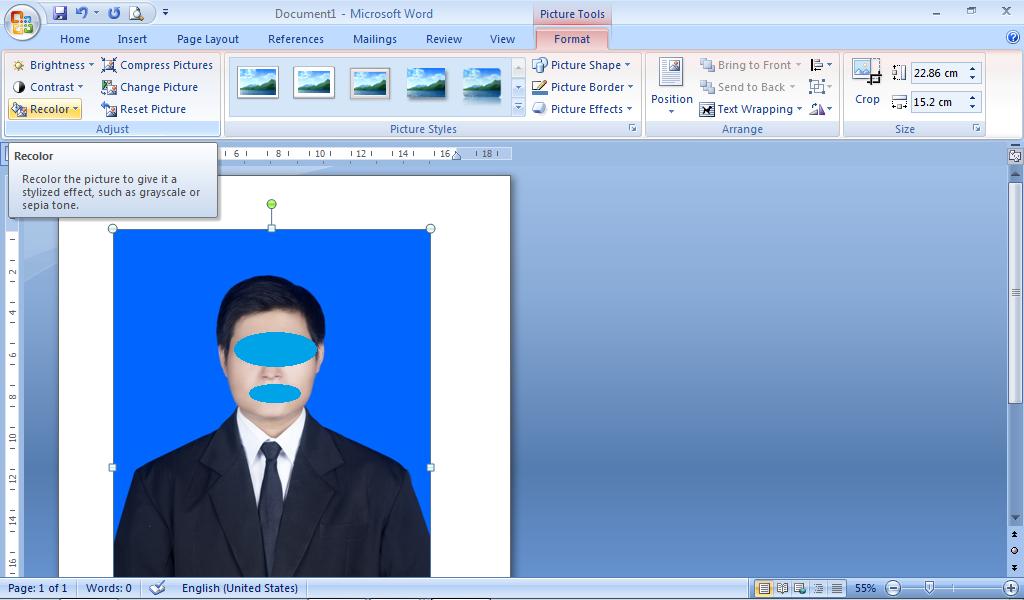Cara Ubah Background Foto Menggunakan Ms. Word 2007 ...