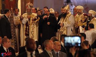 السيسي في عيد الميلاد القداس: لا أحد يستطيع تقسيم المصريين