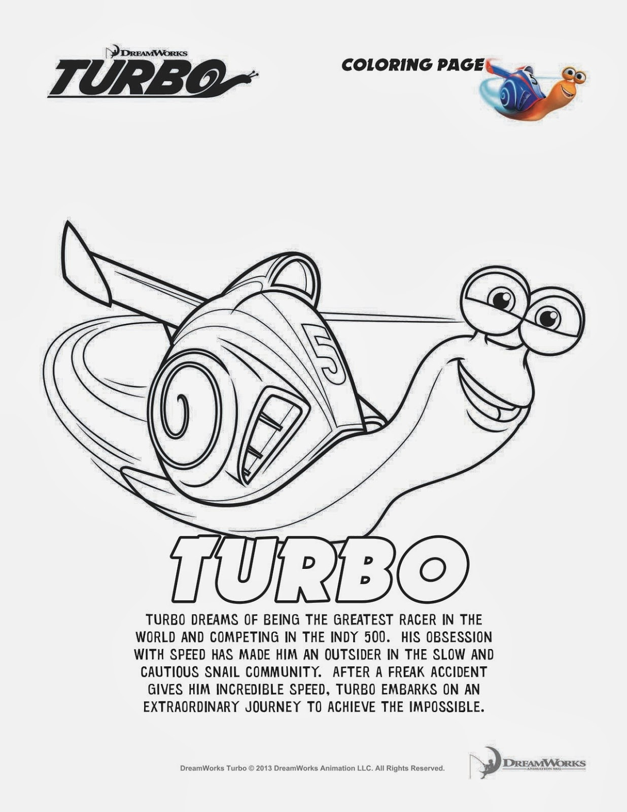 New Age Mama: TURBO Blu-ray Giveaway & Activity Sheets # ...