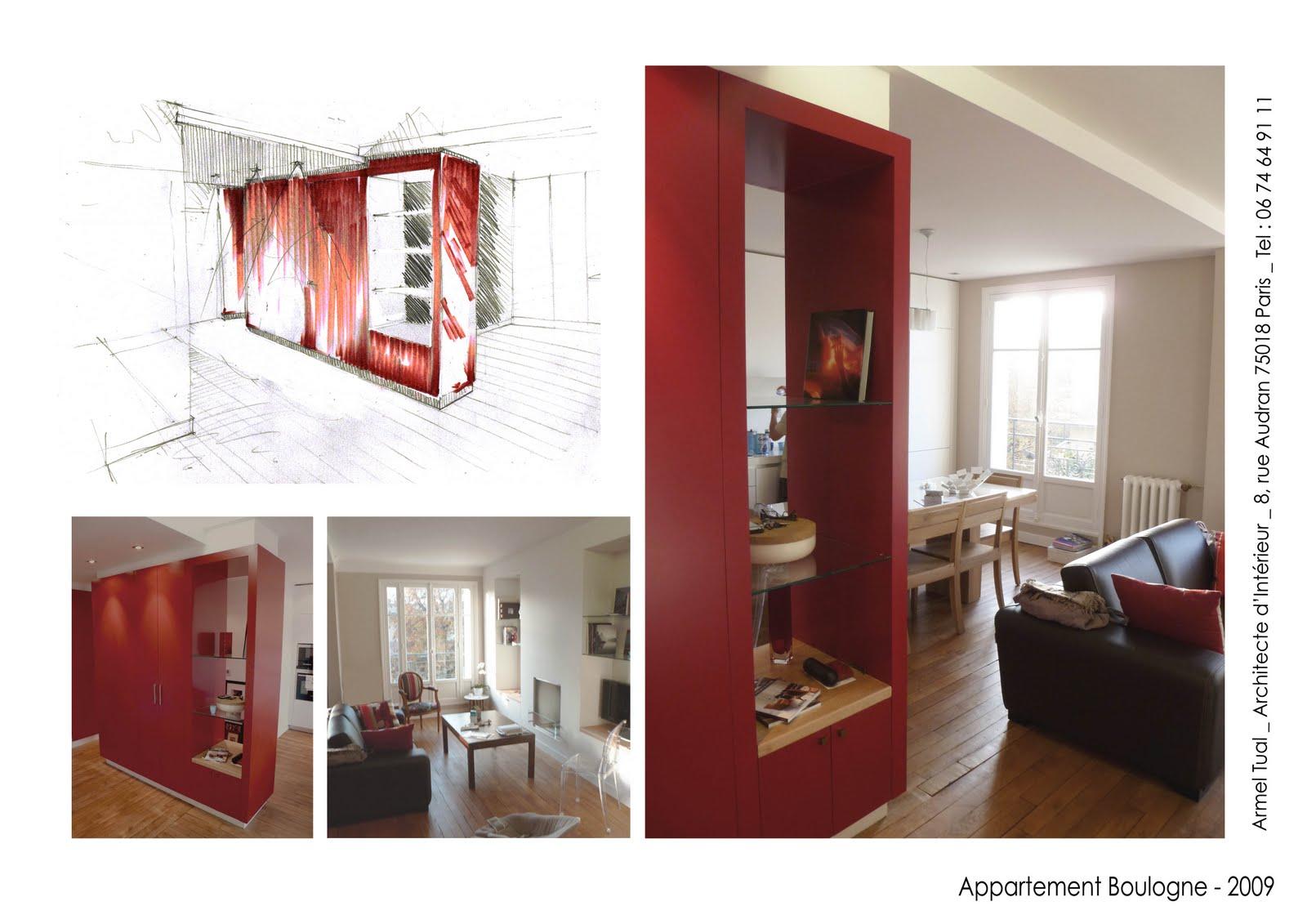 armel tual architecte d 39 int rieur cfai appartement de 65m2. Black Bedroom Furniture Sets. Home Design Ideas