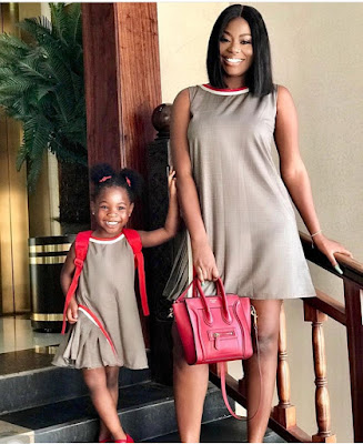 Davido's baby mama and daughter