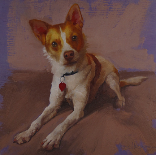 Cooper II, another dog painting!
