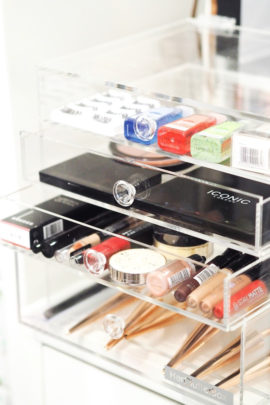 how to store makeup acrylic storage palettes HerClutterBox