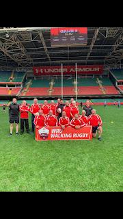 Pontyclun Walking Rugby team at Principality Stadium