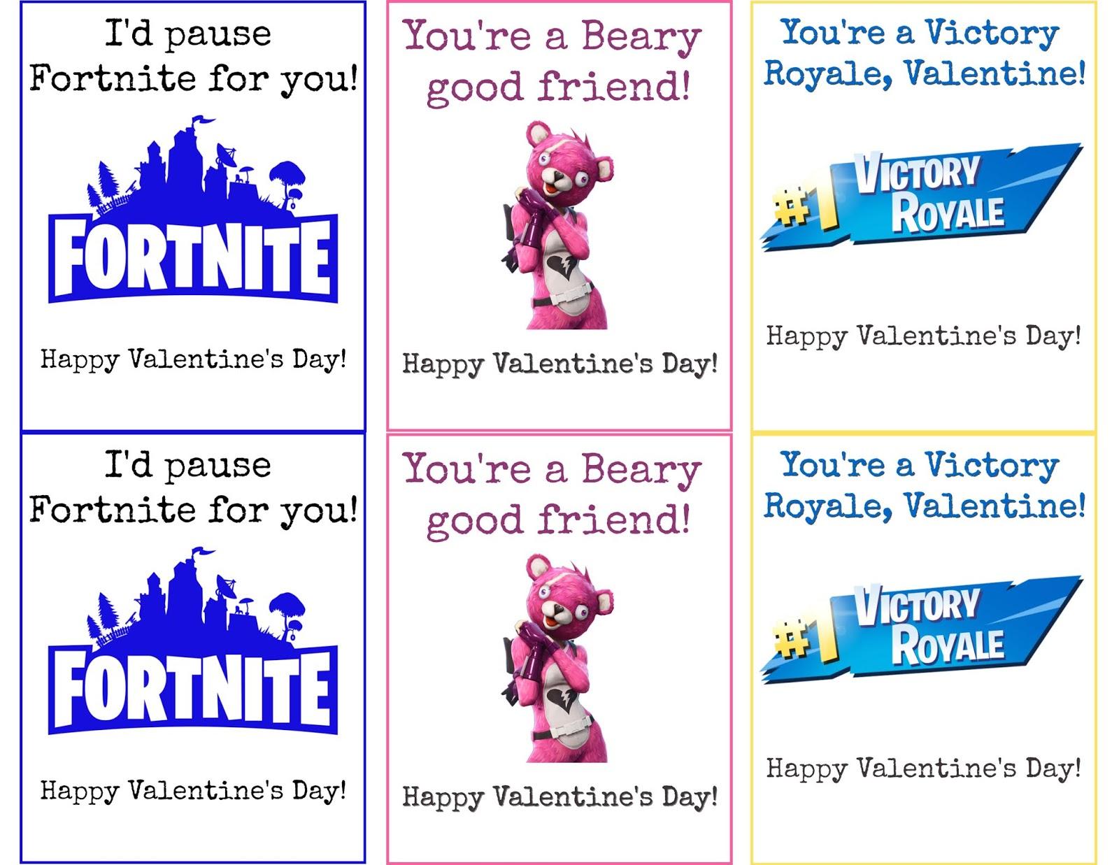 The Procrastinating Mommy Fortnite Valentine S Day Cards