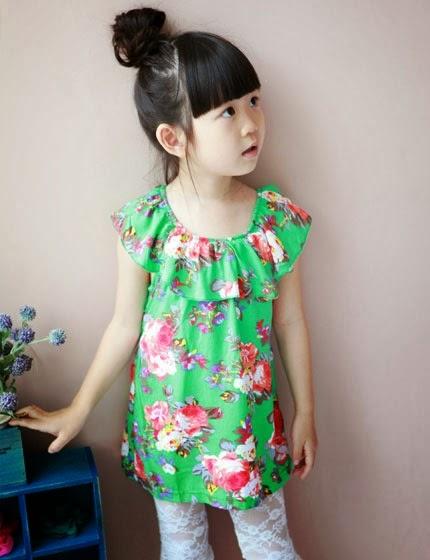 Foto desain model baju anak perempuan model korea umur 6 ...