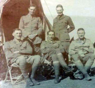 Photograph of officers from the Wana Column circa 1921 - Robin W.G. Stephens is standing at right. (photograph courtesy of Nick Hinton)