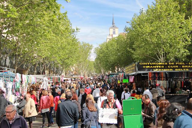 El Rastro Madrid markkinat