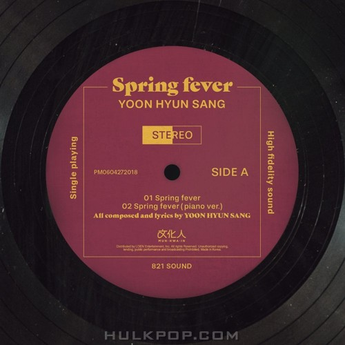 YOON HYUN SANG – Spring fever – Single