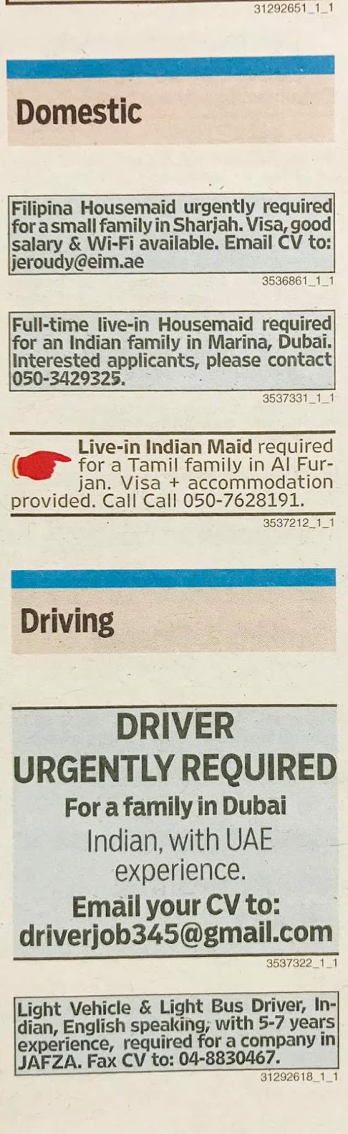 Required DRIVER for UAE JOBS LOCAL HIRING KHALEEJ TIMES-UAE-0810912