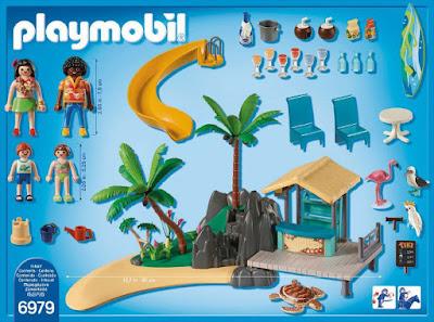 TOYS : JUGUETES - PLAYMOBIL Family Fun  6979 Isla del Caribe con Chiringuito de Playa  2016-2017 | Edad: 4-10 años  Comprar en Amazon España