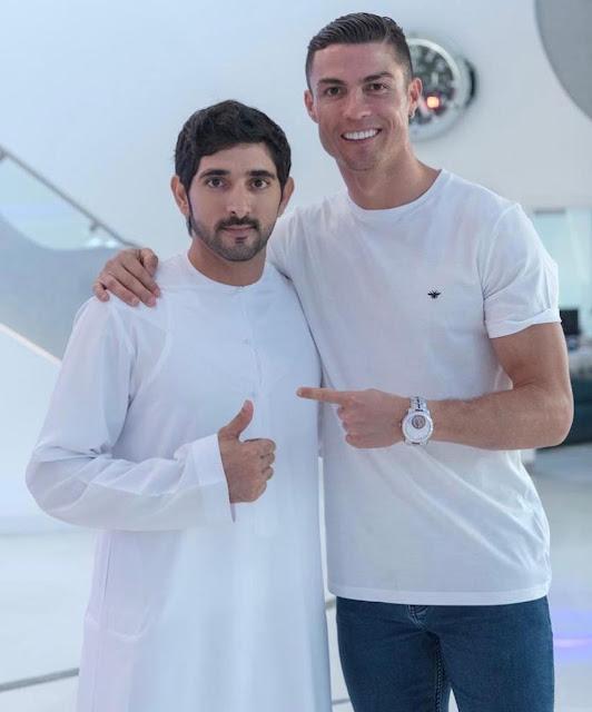 Ronaldo tours Dubai ahead of Globe Soccer Awards