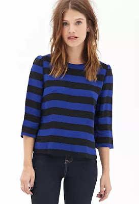 Boxy woven striped top, $12.99 from Forever 21