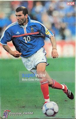 Poster Zinedine Zidane (Prancis)