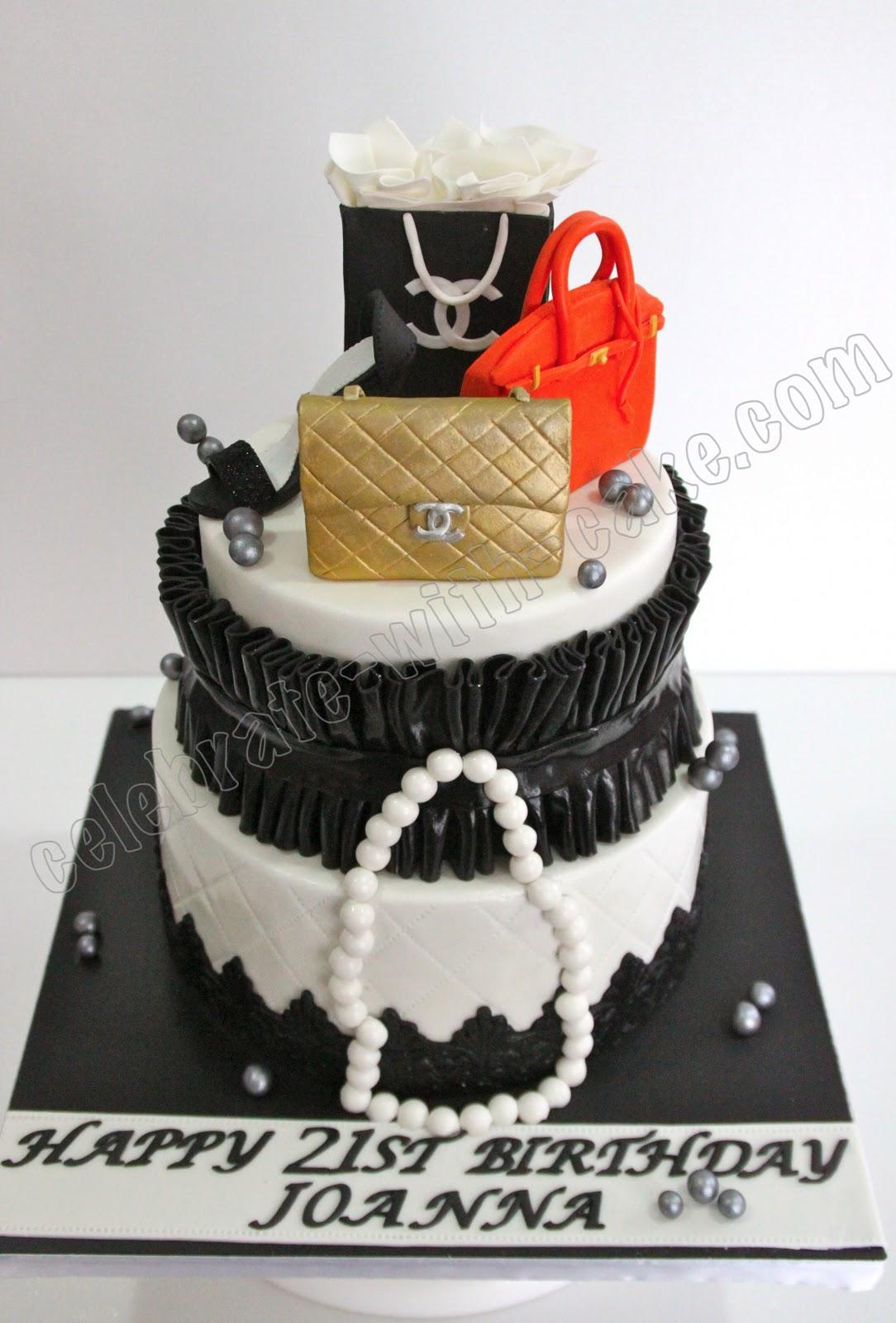 2 Tier Fashionista 21st Birthday Cake