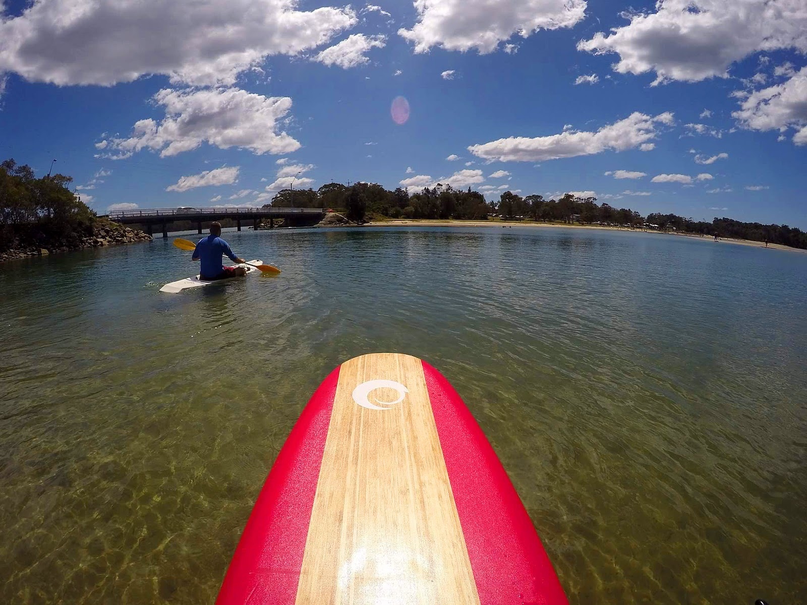 Stand up Paddleboarding on Lake Cathie