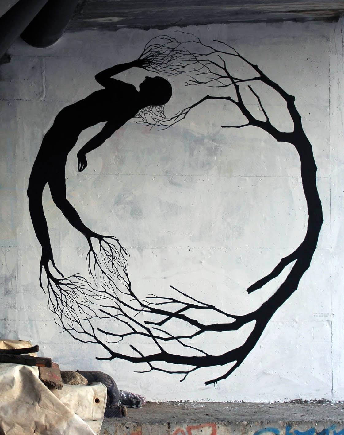 Street Art Collaboration By David De La Mano and Pablo S. Herrero In Porto, Portugal. 2