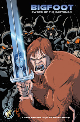 action lab bigfoot sword of the earthman bigfoot comic issue three dave hamann jules rivera bigfoot comic book graphic novel barbarian comic