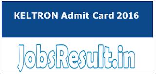 KELTRON Admit Card 2016
