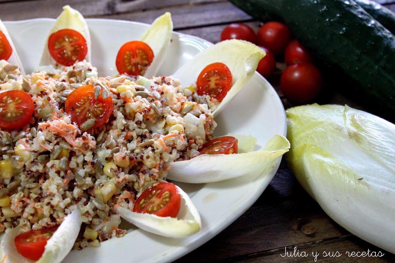 Ensalada de quinoa. Julia y sus recetas