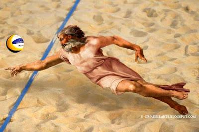 fotomontaggi satirici di capolavori dell'arte-La creazione di Adamo-Michelangelo