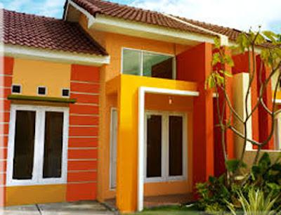 warna cat dinding luar rumah yang cerah 1