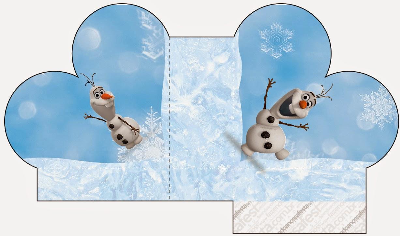 Caja abierta en forma de corazón de Olaf.