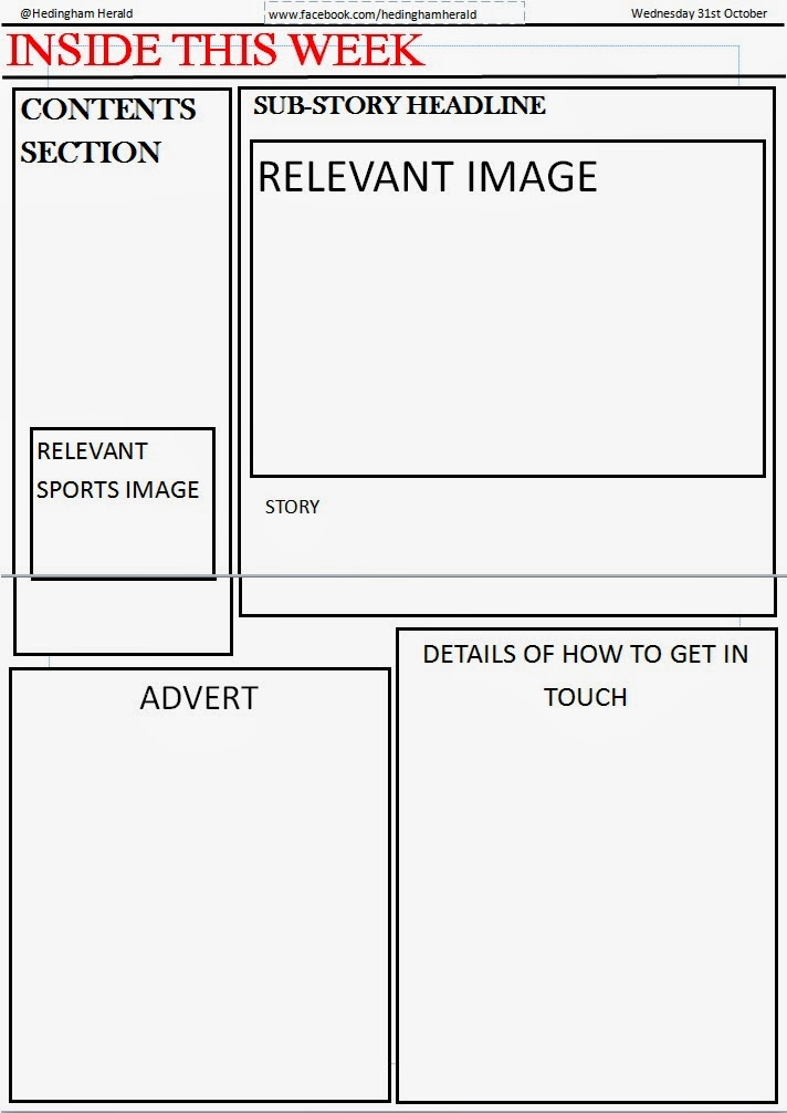 Template for Newspaper 2nd Page Paul McLaughlin A2 Coursework - newspaper headline template