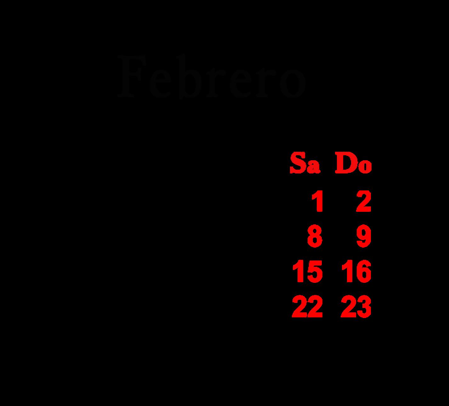 este mes de febrero - photo #8