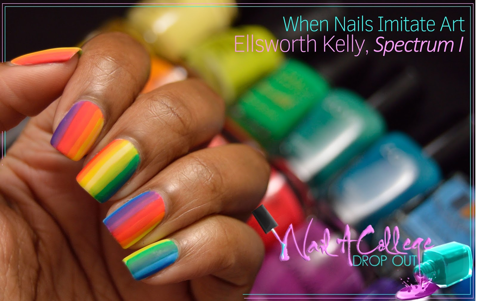 Nail A College Drop Out: When Nails Imitate Art: Ellsworth Kelly