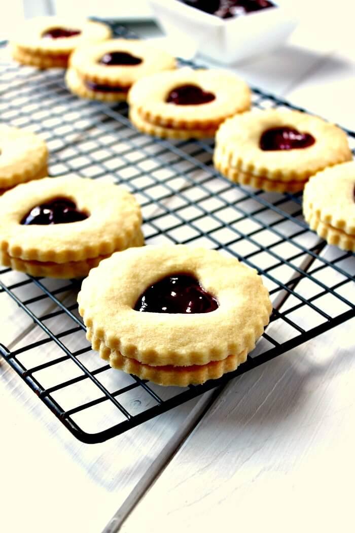 Jam Heart Biscuits