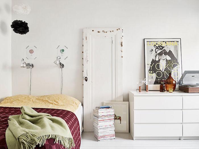 dormitorio con elementos reciclados