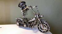 manualidades con chatarra reciclada - moto