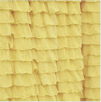 Yellow Ruffle Shower Curtain