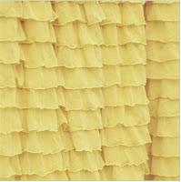 Yellow Ruffle Shower Curtain